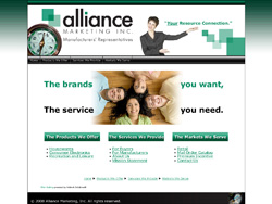 Alliance Marketing Web Design Concept