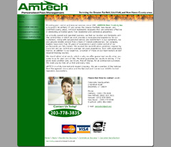 Amtech Pest and Nuisance Control Inc. Web Design Concept