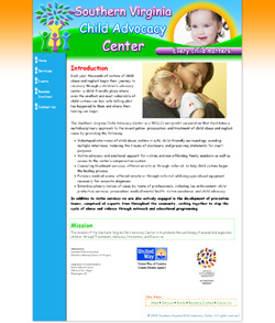 Southern Virginia Child Advocacy Center Web Design Completed